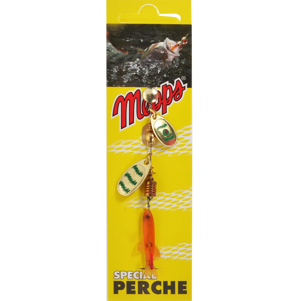 Блесна Mepps Tandem Perch OR/VERT, вращающаяся35428Вращающаяся блесна Mepps Tandem Perch OR/VERT в первую очередь рассчитана на ловлю окуня, который наиболее распространен в большинстве рек и озер. Двойной лепесток Tandem Perch и плавное погружение дают быстрые и сверх привлекательные сигналы, что вызывает у хищника желание полакомиться мальком.