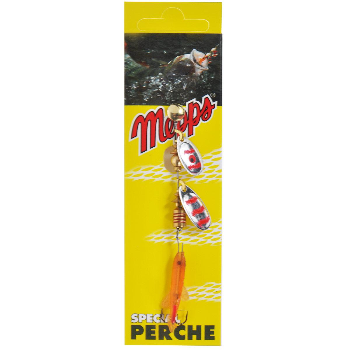 Блесна Mepps Tandem Perch AG/RGE, вращающаяся010-01199-23Вращающаяся блесна Mepps Tandem Perch AG/RGE в первую очередь рассчитана на ловлю окуня, который наиболее распространен в большинстве рек и озер. Двойной лепесток Tandem Perch и плавное погружение дают быстрые и сверх привлекательные сигналы, что вызывает у хищника желание полакомиться мальком.