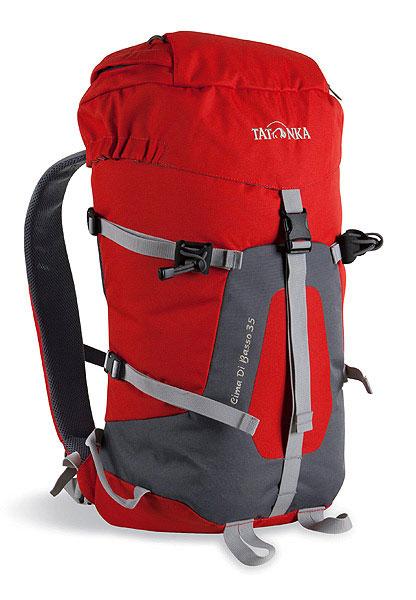 Спортивный рюкзак Tatonka Cima di Basso 35, красный. 1491.015DRF-F367Легкий горный рюкзак. Отлично подходит для восхождений и короткого треккинга. Подвеска Padded Back и съемный поясной ремень обеспечивают отличную фиксацию рюкзака на спине. Боковые стяжки позволяют закрепить на рюкзаке веревку. Предусмотрено два места для крепления палок или ледоруба.Особенности:система подвески Padded Back.съемный поясной ремень.держатели для ледоруба.клапан в крышке рюкзака.боковые стяжки.Материал: Textrem 6.6; 450 HD Polyoxford.Объем: 35 л.