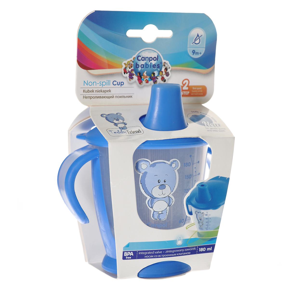 Canpol Babies Поильник Медвежонок непроливающий цвет синий 180 мл