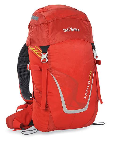 Рюкзак спортивный Tatonka Vento 25, цвет: красный, 25 лMW-1462-01-SR серебристыйУниверсальный спортивный рюкзак с новой системой подвески X Vent Zero. Благодаря крестообразно расположенному каркасу из стекловолокна и минимальному контакту со спиной система объединяет оптимальный контроль нагрузки с исключительной вентиляцией и минимальным весом. При весе всего 960 г. рюкзак обладает вместительным внутренним отделением и хорошим оснащением.Особенности рюкзака:Подвеска X Vent Zero.Верхнее отделение с держателем для ключей и дождевым чехлом.Эргономичные лямки с эластичным нагрудным ремнем.Эластичные боковые карманы.Держатели походных палок.Боковые стяжки.Ручка для переноски.