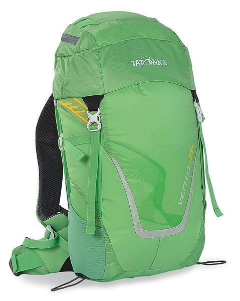 Рюкзак спортивный Tatonka Vento 25, цвет: светло-зеленый, 25 л8-2Универсальный спортивный рюкзак с новой системой подвески X Vent Zero. Благодаря крестообразно расположенному каркасу из стекловолокна и минимальному контакту со спиной система объединяет оптимальный контроль нагрузки с исключительной вентиляцией и минимальным весом. При весе всего 960 г. рюкзак обладает вместительным внутренним отделением и хорошим оснащением.Особенности рюкзака:Подвеска X Vent Zero.Верхнее отделение с держателем для ключей и дождевым чехлом.Эргономичные лямки с эластичным нагрудным ремнем.Эластичные боковые карманы.Держатели походных палок.Боковые стяжки.Ручка для переноски.