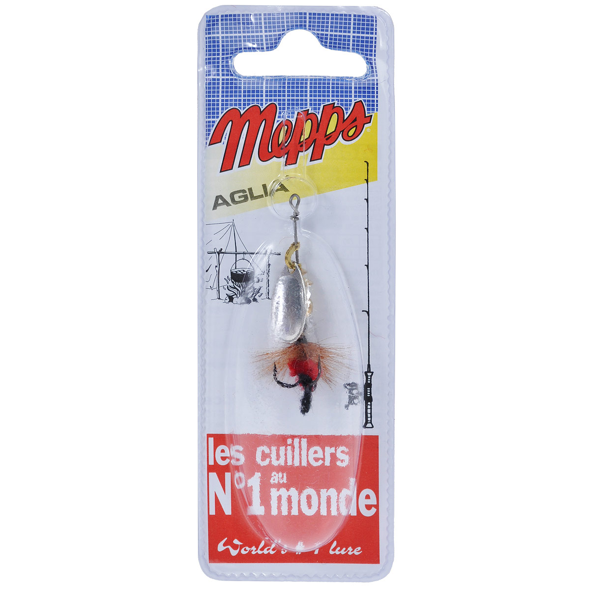 Блесна Mepps Aglia AG Mouch. Rouge, вращающаяся, №0065SDR/058Вращающаяся блесна Mepps Aglia AG Mouch. Rouge оснащена мушкой из натурального беличьего хвоста, это очень эффективные приманки для ловли жереха, голавля, язя, окуня и других видов рыб, особенно в периоды массового вылета насекомых.Aglia Mouche - некрупная блесна, которая особенно подходит для летней ловли рыбы (особенно осторожной) на мелководье.