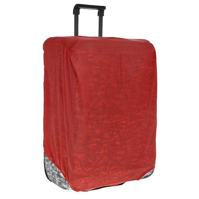 Чехол защитный для чемодана Eva, цвет: красный, 62 х 42 х 28 см К4441619Защитный чехол для чемодана Eva выполнен из водоотталкивающего материала - полиэстера. Чехол легко надевается и фиксируется при помощи липучек. Регулируется по высоте и степени наполненности. Чехол защитит ваш багаж от загрязнений, царапин и несанкционированного доступа, а также значительно продлит срок службы вашего чемодана.Размер чехла: 62 см х 42 см х 28 см.
