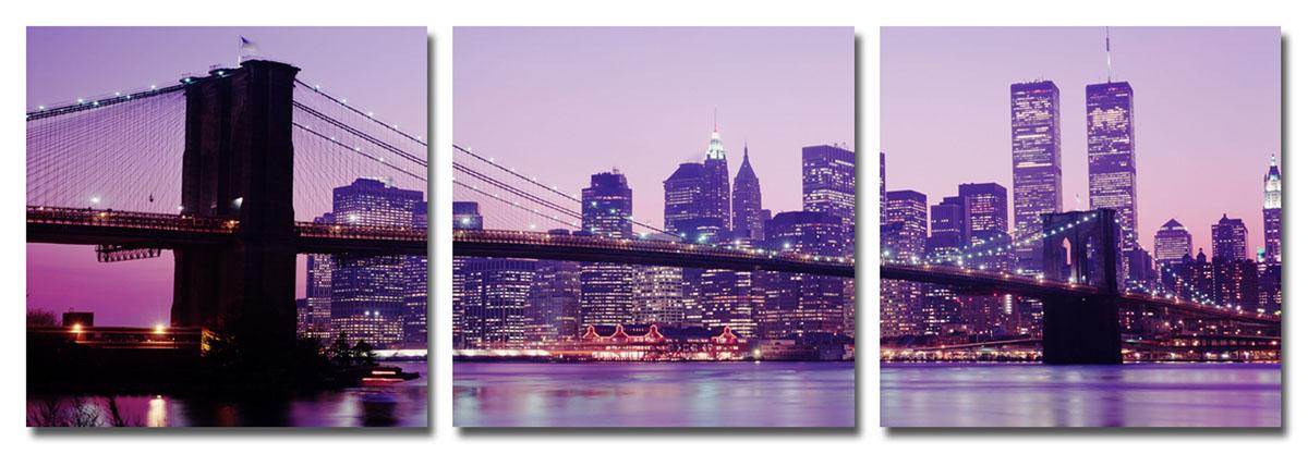 """Канвас триптих Idea """"Мост. Нью-Йорк"""", 46,5 х 46,5 см"""