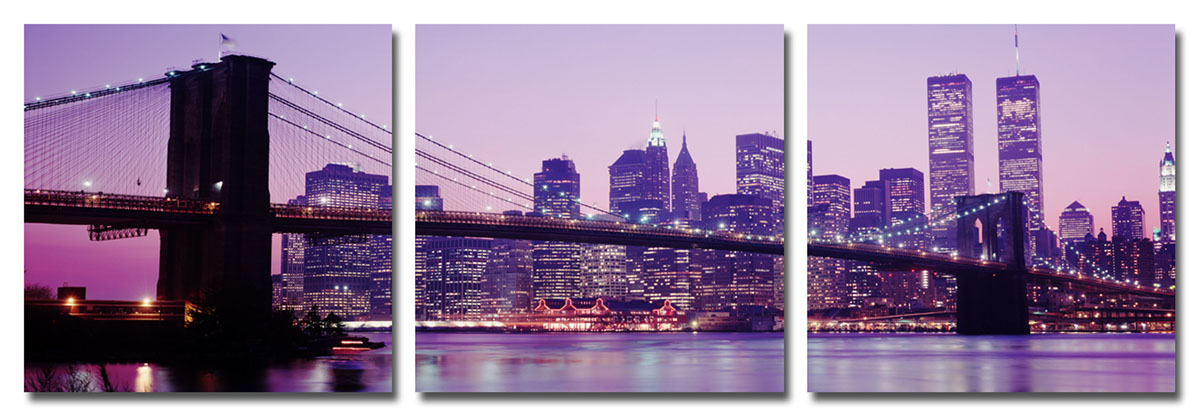Канвас триптих Idea Мост. Нью-Йорк, 46,5 х 46,5 смRG-D31SРазмер каждого модуля: 46,5 х 46,5 см.