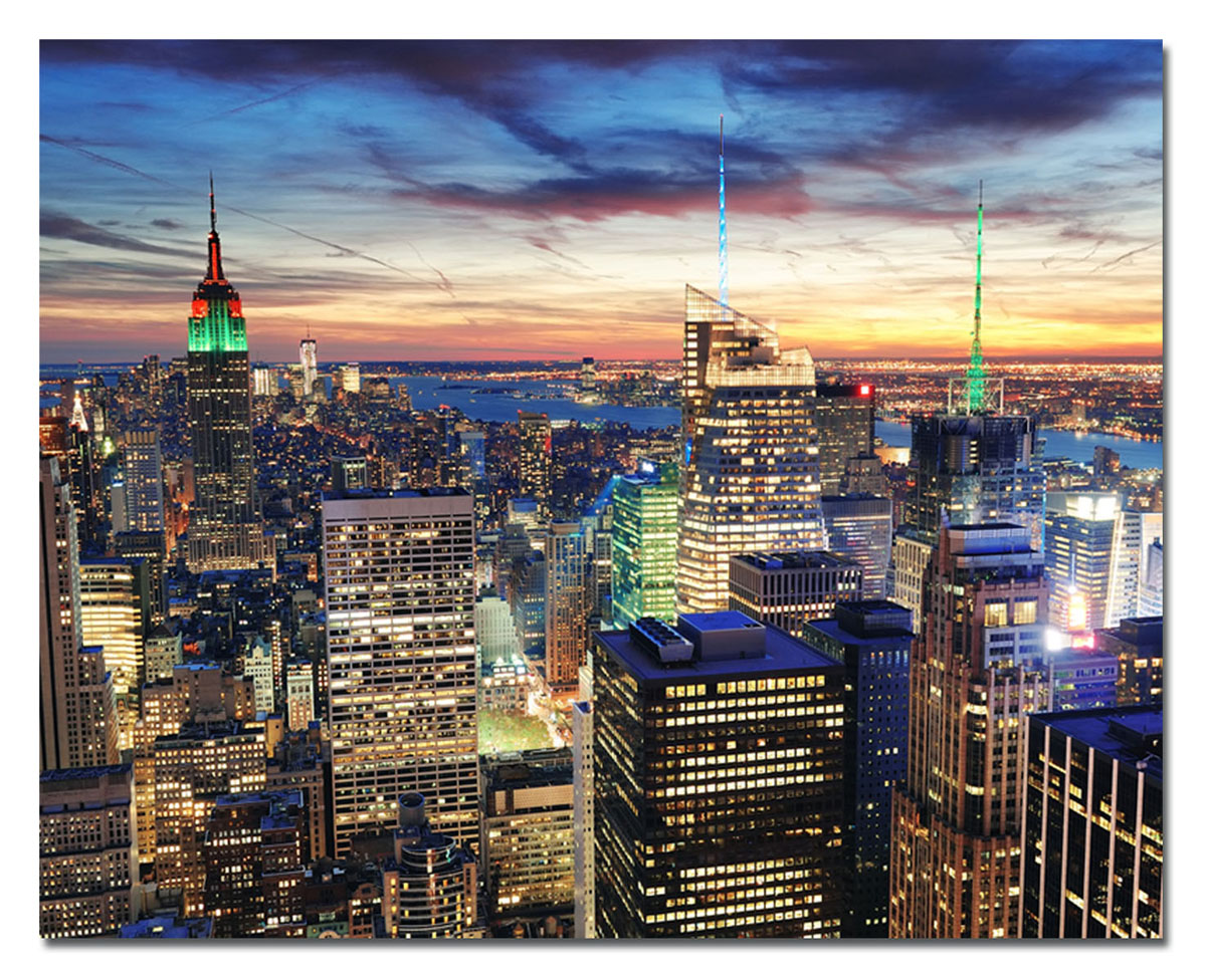 Канвас Idea Ночной Нью-Йорк, 50 см х 40 смBL-1BКанвас - это ткань с художественной фотопечатью, натянутая на деревянный каркас. Такое изделие - оригинальный декоративный элемент, способный преобразить любой интерьер. Картина оформлена красочным изображением ночного Нью-Йорка. С задней стороны имеется петелька для подвешивания к стене. Стильный, современный дизайн, а также яркие и насыщенные цвета сделают эту картину прекрасным дополнением интерьера комнаты.