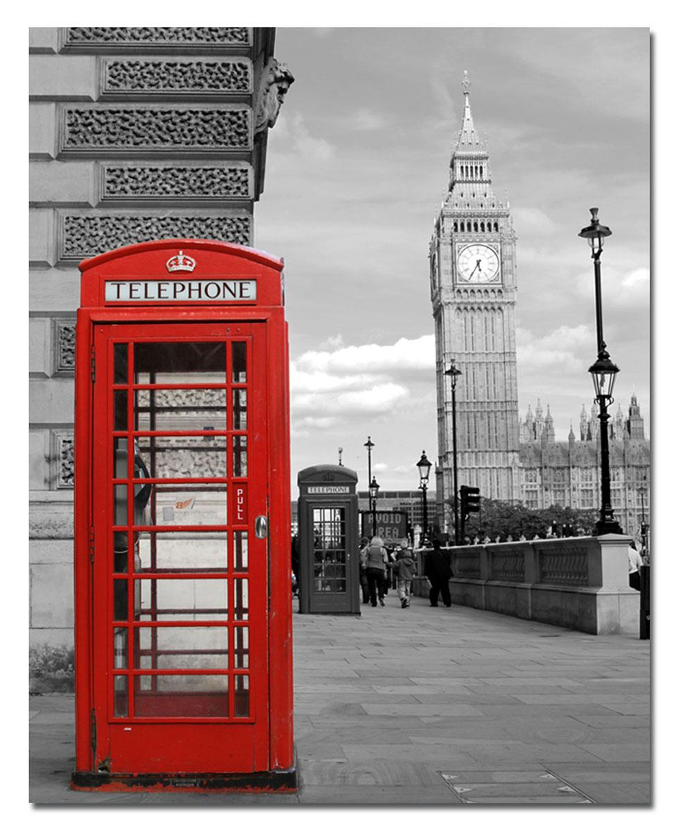 Канвас Idea Телефонная будка, 40 х 50 смБрелок для сумкиКанвас - это ткань с художественной фотопечатью, натянутая на деревянный каркас. Такое изделие - оригинальный декоративный элемент, способный преобразить любой интерьер. Картина оформлена изображением красной телефонной будки на черно-белом фоне. С задней стороны имеется петелька для подвешивания к стене. Стильный, современный дизайн, а также яркие и насыщенные цвета сделают эту картину прекрасным дополнением интерьера комнаты.