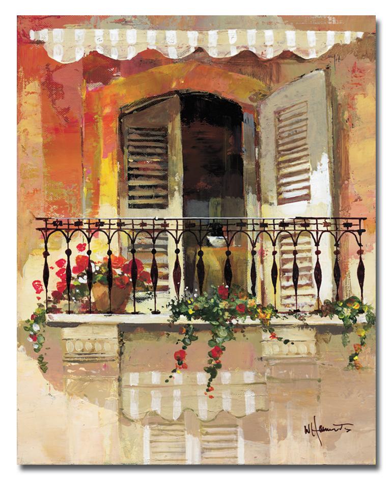 Канвас Idea Балкончик, 40 х 50 смБрелок для сумкиКанвас - это ткань с художественной фотопечатью, натянутая на деревянный каркас. Такое изделие - оригинальный декоративный элемент, способный преобразить любой интерьер. Картина оформлена красочным изображением балкона. С задней стороны имеется петелька для подвешивания к стене. Стильный, современный дизайн, а также яркие и насыщенные цвета сделают эту картину прекрасным дополнением интерьера комнаты.