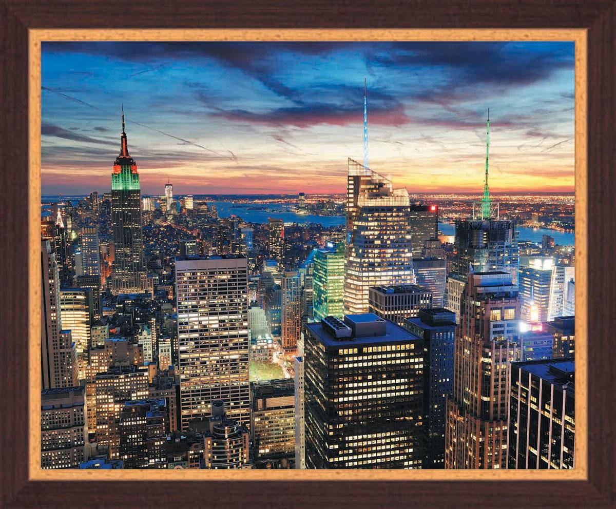 Постер в раме Postermarket Ночной город, 50 х 40 смIDEA CT2-05Картина для интерьера (постер) - современное и актуальное направление в дизайне любых помещений.Постер с красочным изображением ночного города оформлен в раму коричневого цвета, выполненную из пластика под дерево. Картина защищена прозрачным пластиком. С задней стороны имеется петелька для подвешивания к стене.Картина может использоваться для оформления любых интерьеров: - дом, квартира (гостиная, спальня, кухня, прихожая, детская); - офис (комната переговоров, холл, кабинет); - бар, кафе, ресторан или гостиница. Картины, предоставляемые компанией Постермаркет:- собраны вручную из лучших импортных комплектующих; - надежно упакованы в пленку с противоударными уголками.