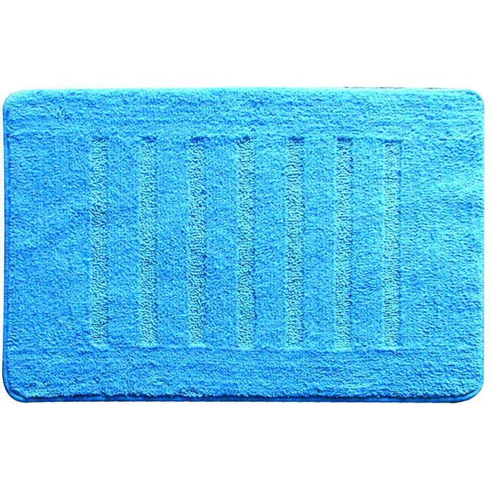 Коврик для ванной комнаты Milardo Blue Lines, 50 см х 80 см. MMI182M68/5/4Коврик для ванной комнаты Milardo Lines выполнен из микрофибры (100% полиэстер) - это особо мягкий материал, изготовленный из тончайших волокон. Коврик удивительно приятен и нежен на ощупь, обладает уникальными впитывающими свойствами. Он имеет латексную основу, благодаря которой он не скользит по полу. Края коврика обработаны оверлоком. Можно использовать на полу с подогревом.Коврик можно стирать в стиральной машине в щадящем режиме при температуре не выше 40°C отдельно от остального белья.