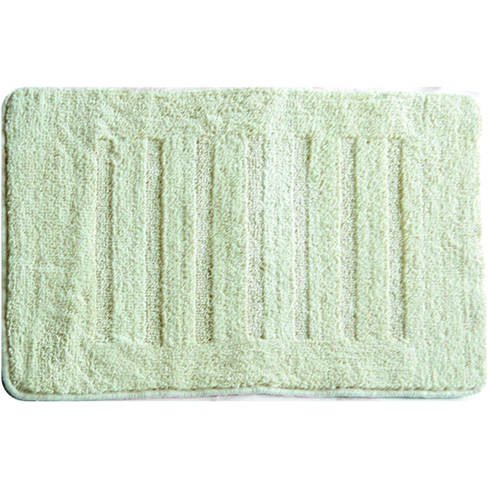 Коврик для ванной комнаты Milardo Beige Lines, 50 х 80 см MMI183M68/5/3Коврик для ванной комнаты Milardo Lines выполнен из микрофибры (100% полиэстер) - это особо мягкий материал, изготовленный из тончайших волокон. Коврик удивительно приятен и нежен на ощупь, обладает уникальными впитывающими свойствами. Он имеет латексную основу, благодаря которой он не скользит по полу. Края коврика обработаны оверлоком. Можно использовать на полу с подогревом.Коврик можно стирать в стиральной машине в щадящем режиме при температуре не выше 40°C отдельно от остального белья.