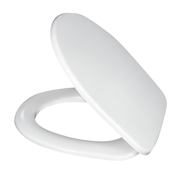 Сиденье для унитаза Milardo, универсальное, цвет: белый. 020PP00M31BH-UN0502( R)Размер крышки: 37 х 42 см.