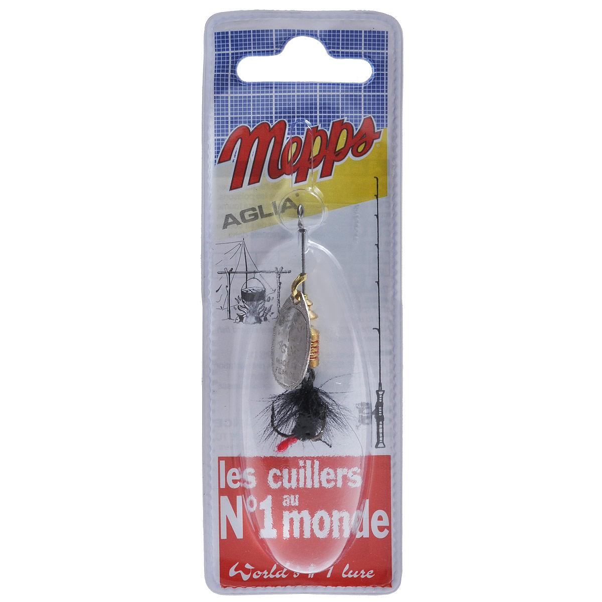 блесна mepps aglia pts rouges or 3 cpar10031 Блесна Mepps Aglia AG Mouch. Noire, вращающаяся, №1