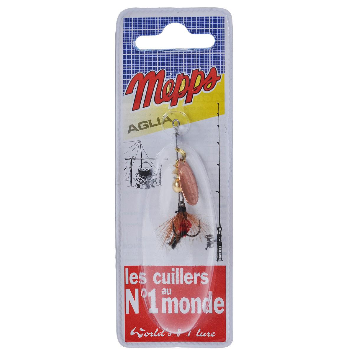 Блесна Mepps Aglia CU Mouch. Rouge, вращающаяся, №0010-01199-23Вращающаяся блесна Mepps Aglia CU Mouch. Rouge оснащена мушкой из натурального беличьего хвоста, это очень эффективные приманки для ловли жереха, голавля, язя, окуня и других видов рыб, особенно в периоды массового вылета насекомых.Aglia Mouche - некрупная блесна, которая особенно подходит для летней ловли рыбы (особенно осторожной) на мелководье.