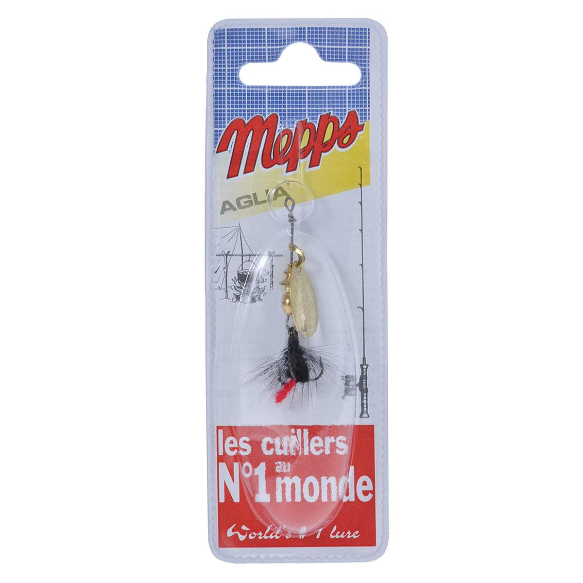 Блесна Mepps Aglia OR Mouch. Noire, вращающаяся, №0010-01199-23Вращающаяся блесна Mepps Aglia OR Mouch. Noire оснащена мушкой из натурального беличьего хвоста, это очень эффективные приманки для ловли жереха, голавля, язя, окуня и других видов рыб, особенно в периоды массового вылета насекомых.Aglia Mouche - некрупная блесна, которая особенно подходит для летней ловли рыбы (особенно осторожной) на мелководье.