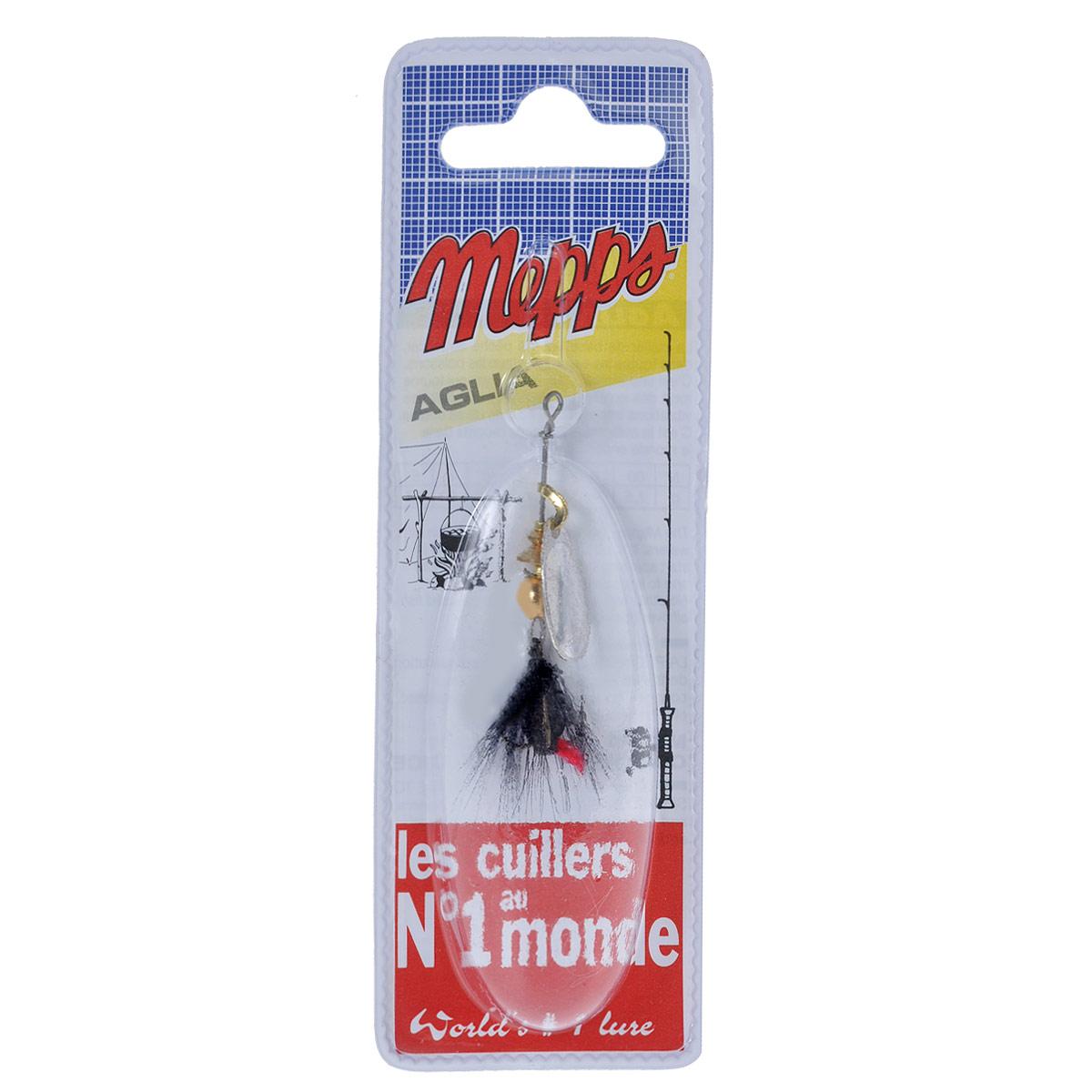 Блесна Mepps Aglia AG Mouch. Noire, вращающаяся, №067744Вращающаяся блесна Mepps Aglia AG Mouch. Noire оснащена мушкой из натурального беличьего хвоста, это очень эффективные приманки для ловли жереха, голавля, язя, окуня и других видов рыб, особенно в периоды массового вылета насекомых.Aglia Mouche - некрупная блесна, которая особенно подходит для летней ловли рыбы (особенно осторожной) на мелководье.