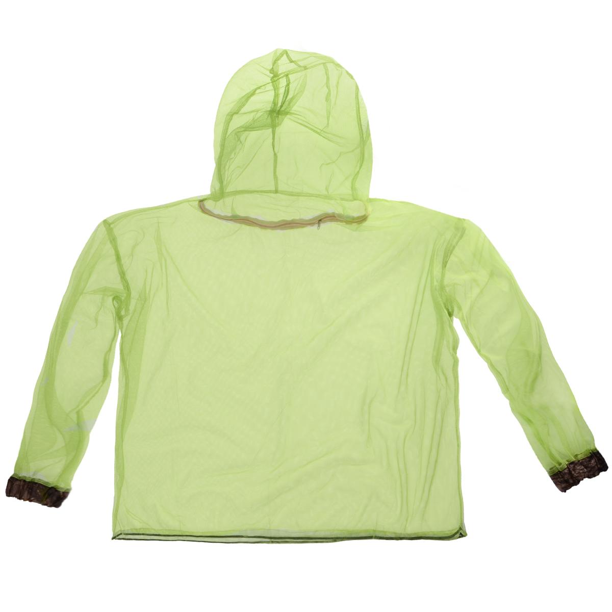 Куртка противомоскитная Eva. К411301210Противомоскитная куртка Eva изготовлена из сетчатого полиэстера. Мельчайший размер ячеек сетки обеспечивает высокую защиту от самых мелких кровососущих насекомых: мошек, москитов, комаров, клещей. Низ куртки оснащен удобным затяжным шнурком с фиксатором, манжеты на резинках. Также имеет удобный капюшон на молнии.