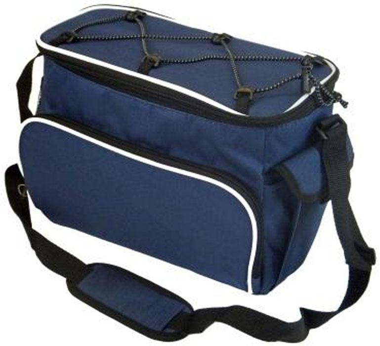 Сумка изотермическая Nantong, цвет: синий, 10 лВ8103Изотермическая сумка Nantong - это великолепное средство хранения скоропортящихся продуктов. Изотермическая сумка, с применением аккумуляторов холода, сохраняет продукты в замороженном виде в течении 10-12 часов. Для сумки объемом 10 л достаточно 2-3 аккумуляторов холода.Основная секция закрывается на замок. Имеется дополнительный внешний отдел и ручка для удобства переноски.