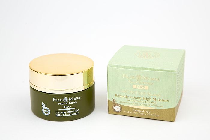Frais Monde Крем для лица Hydro Bio, увлажняющий, для сухой и нормальной кожи, 50 млБ63003 мятаКрем для лица Frais Monde Hydro Bio интенсивно увлажняет и разглаживает кожу, восстанавливая водный баланс. Уникальный комплекс активных компонентов работает на глубоких слоях кожи, сохраняя молодость и упругость кожи. Активные ингредиенты:-Гиалуроновая кислота удерживает воду в клетках. -Экстракт органического солероса снижает потери воды, стимулируя воспроизводство естественных увлажняющих агентов. Способ применения: нанести небольшое количество крема на очищенное лицо, мягко помассировать.Товар сертифицирован.