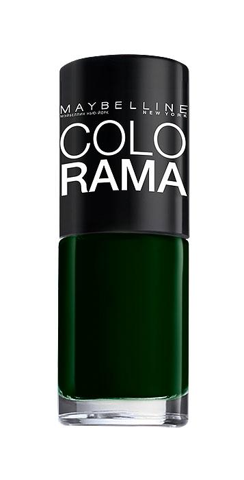 Maybelline New York Лак для ногтей Colorama, оттенок 270, Зеленый бархат, 7 млB2338402Самая широкая палитра оттенков новых лаков Колорама.Яркие модные цвета с подиума. Новая формула лака Колорама обеспечивает стойкое покрытие и создает еще более дерзкий, насыщенный цвет, который не тускнеет. Усовершенствованная кисточка для более удобного и ровного нанесения, современная упаковка. Лак для ногтей Колорама не содержит формальдегида, дибутилфталата и толуола.