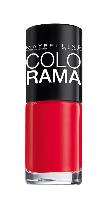 Maybelline New York Лак для ногтей Colorama, оттенок 322, Роскошный красный, 7 млAS-501/RСамая широкая палитра оттенков новых лаков Колорама.Яркие модные цвета с подиума. Новая формула лака Колорама обеспечивает стойкое покрытие и создает еще более дерзкий, насыщенный цвет, который не тускнеет. Усовершенствованная кисточка для более удобного и ровного нанесения, современная упаковка. Лак для ногтей Колорама не содержит формальдегида, дибутилфталата и толуола.
