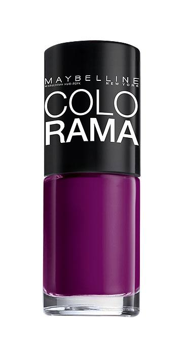 Maybelline New York Лак для ногтей Colorama, оттенок 326, Загадочный пурпур, 7 млB2342603Самая широкая палитра оттенков новых лаков Колорама.Яркие модные цвета с подиума. Новая формула лака Колорама обеспечивает стойкое покрытие и создает еще более дерзкий, насыщенный цвет, который не тускнеет. Усовершенствованная кисточка для более удобного и ровного нанесения, современная упаковка. Лак для ногтей Колорама не содержит формальдегида, дибутилфталата и толуола.
