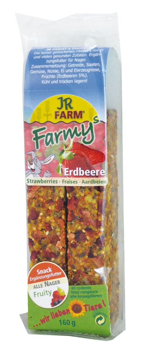 Лакомство для грызунов JR Farm Палочки, с клубникой, 120 г0120710Лакомство для грызунов JR Farm Палочки с яйцом, клубникой и множеством полезных для здоровья ингредиентов. Дополнительный корм для грызунов.Состав: злаки, семена, овощи, орехи, яйцо и продукты яйца, фрукты (земляника 5%), побочные продукты растительного происхождения.Содержание: белок 13,9%, жиры 15,2%, клетчатка 8,7%, зола 2,4%, крахмал — 1%.Товар сертифицирован.