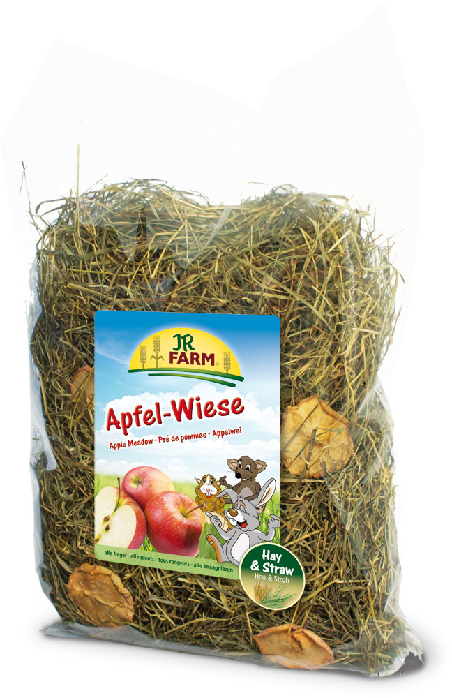 Сено JR Farm, с яблоками, 500 г25614Растительный корм для кроликов и других грызунов JR Farm изготовлен из нежно высушенных трав альпийского луга с очень высоким содержанием листьев. Сено обогащено злаковыми травами и добавлено яблоко. Сено из натуральных трав - обязательный грубый корм в рационе карликовых кроликов и морских свинок, и оно должно быть всегда в свободном доступе и необходимом объеме для животного.Состав: сено, яблоко. Пищевая ценность: белок - 11,7%, жиры - 2,6%, клетчатка - 22,9%, зола - 6,9%.Вес: 500 г.Товар сертифицирован.