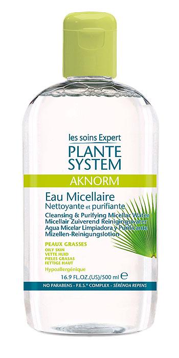 Plante System Мицеллярная вода Aknorm, очищающая, для жирной кожи, 500 млBFM043Мицеллярная вода Plante System Aknorm с экстрактом плодов пальмы сереноа (saw palmetto) предназначена для жирной, проблемной кожи лица. 3 действия в 1 средстве: снятие макияжа, очищение, лечение. Нормализация работы сальных желез.Очищает жирную кожу от загрязнений и следов макияжа.Гипоаллергенный продукт.Не содержит парабены, феноксиэтанол, эфирные масла; превосходная переносимость компонентов.Подходит для кожи лица и век, и для тех кто пользуется контактными линзами. Способ применения: нанести жидкость на ватный диск и очистить кожу лица и шеи. Не нужно смывать.Товар сертифицирован.