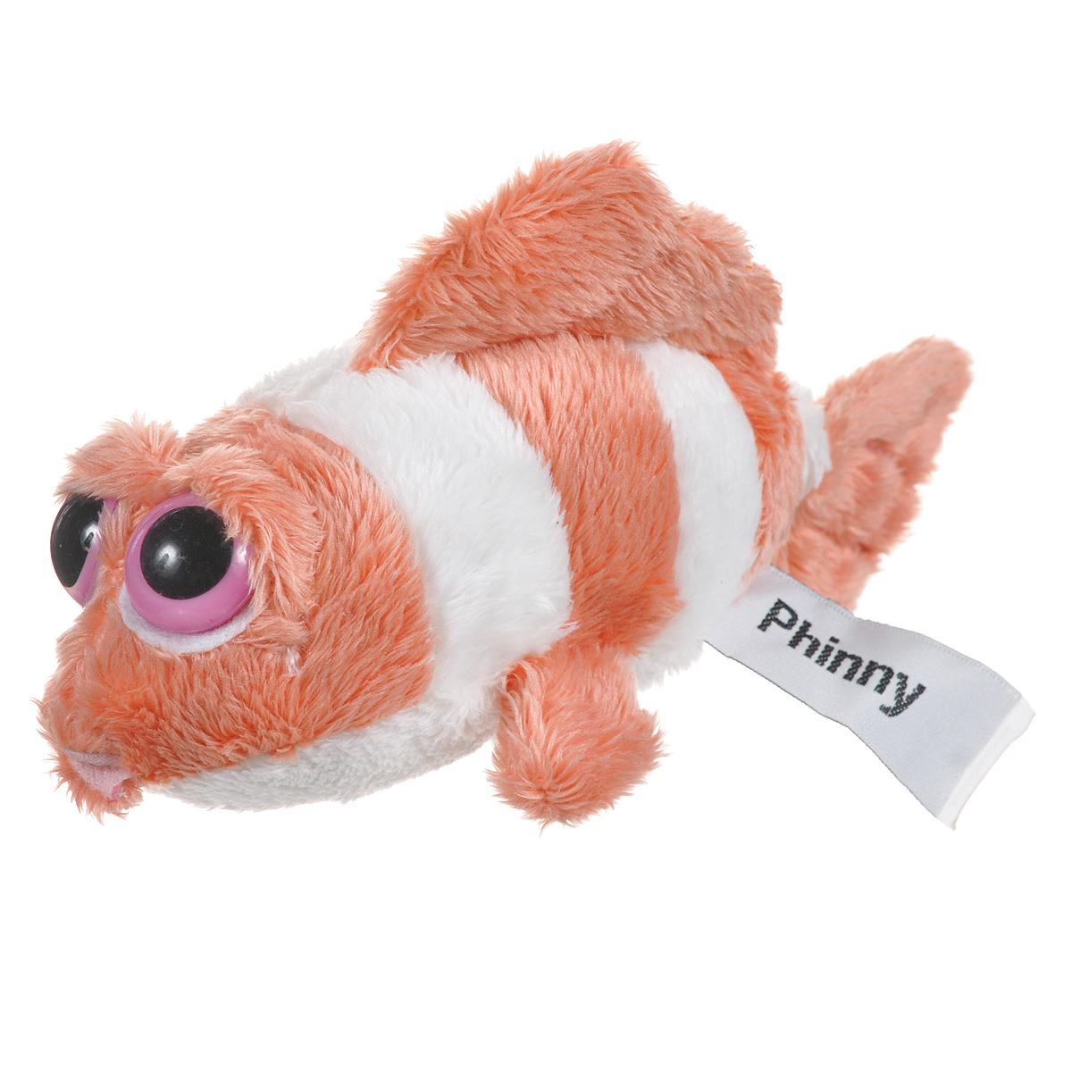 Мягкая игрушка Russ Рыба-клоун Пиперс, цвет: белый, оранжевый, 17 см joanna russ the female man