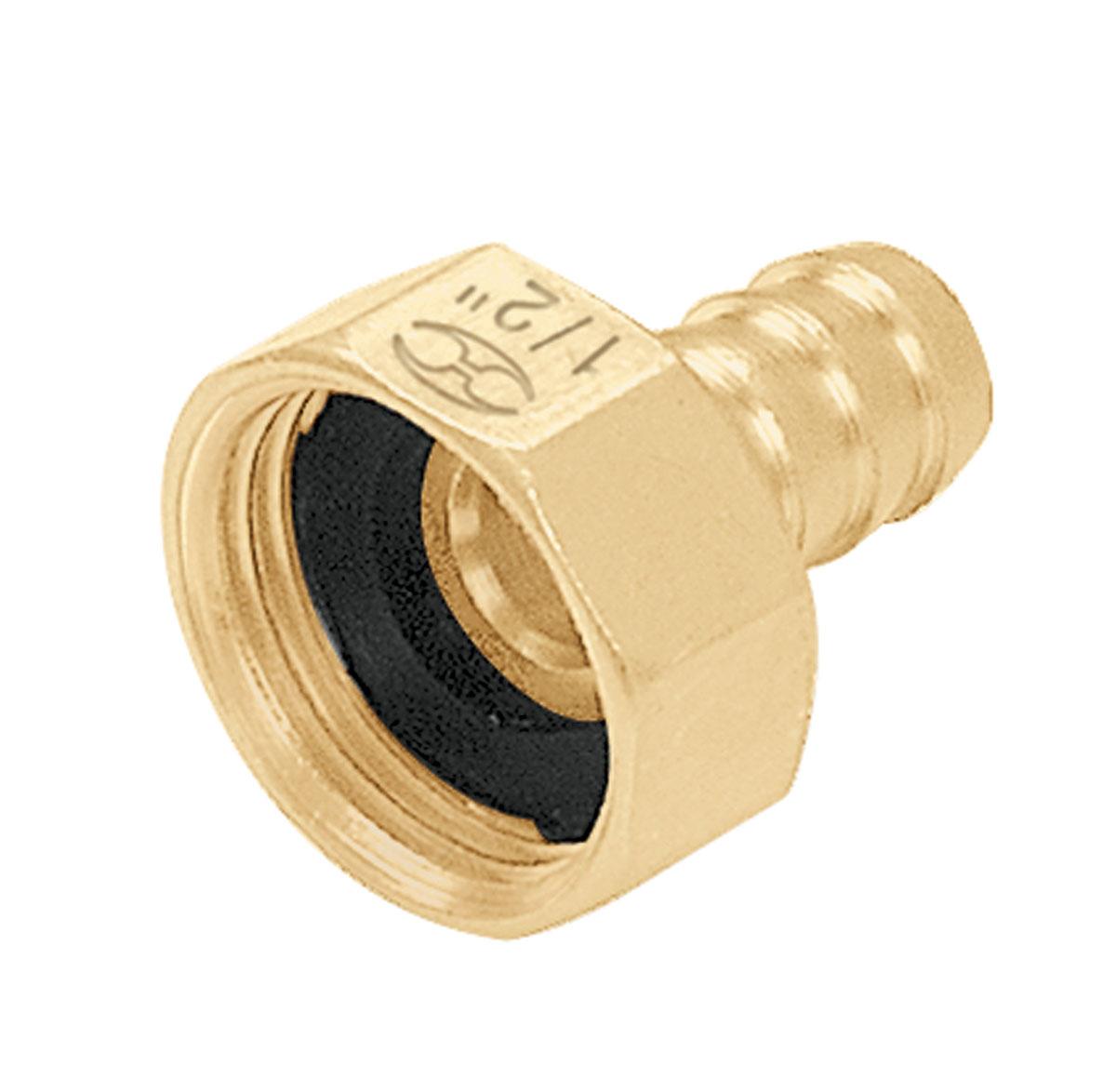 Коннектор для шланга Truper, латунный, мама, 1/2А00319Шланговый коннектор Truper, выполненный из латуни, предназначен для быстрого и многократного присоединения и отсоединения шланга к насадкам или крану. Тип соединения мама.