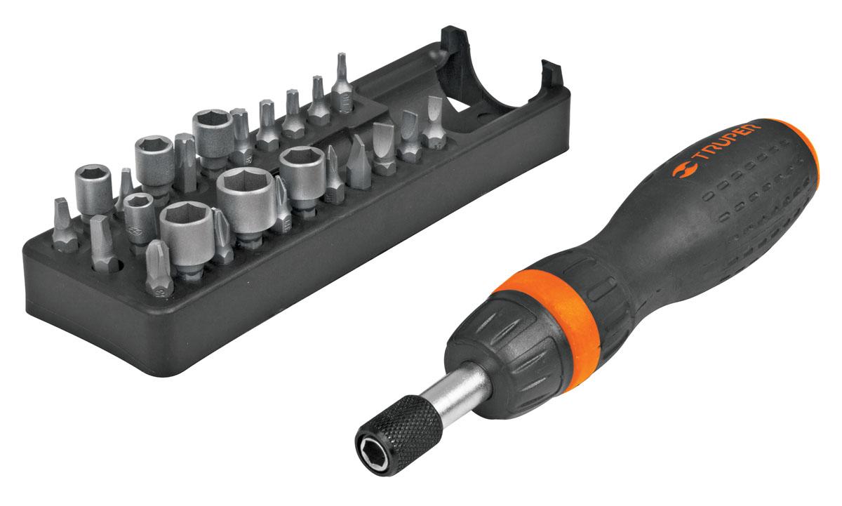 Отвертка с трещоткой и битами Truper JDM-24, 25 предметов  набор бит truper 25 мм 5 шт