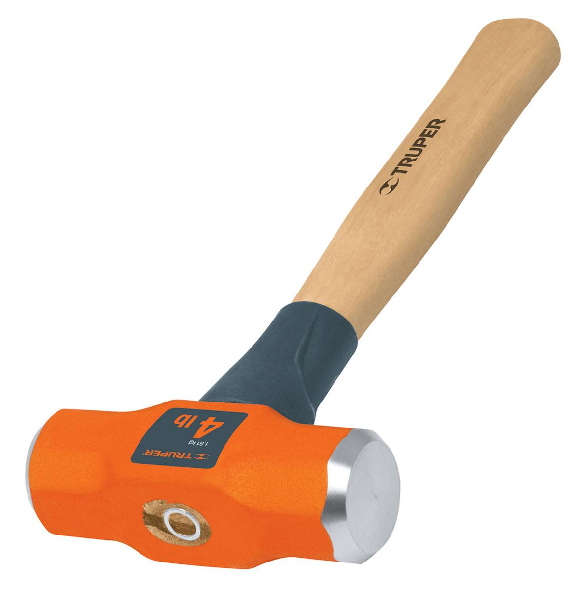 Кувалда Truper, с деревянной рукояткой, 1,8 кг2706 (ПО)Кувалда Truper предназначена для нанесения исключительно сильных ударов при обработке металла, на демонтаже и монтаже конструкций. Деревянная ручка с антишоковой защитой, изготовленная из дуба, обеспечивает надежный хват. Финишная обработка бойка.