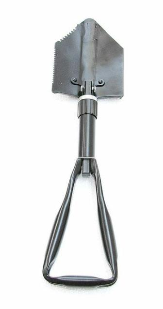 Складная лопата CAMPLAND, с чехлом, стальная, цвет: черный, 58 см - Лопаты