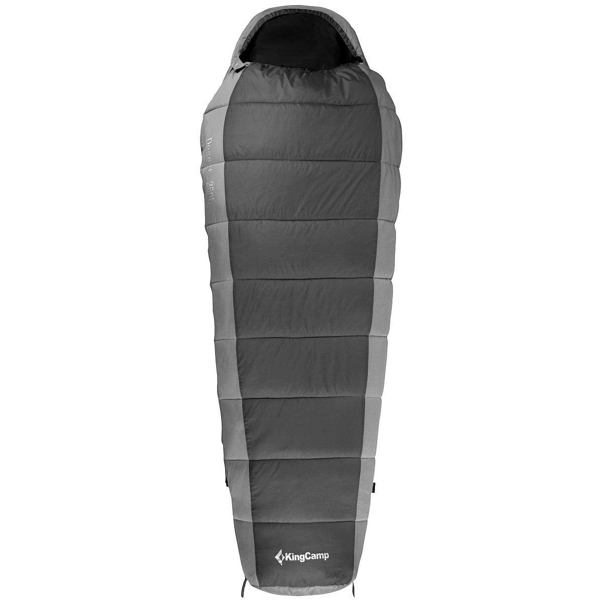 Спальный мешок-кокон KingCamp  Desert 300 KS3138 , правосторонняя молния, цвет: серый - Спальные мешки