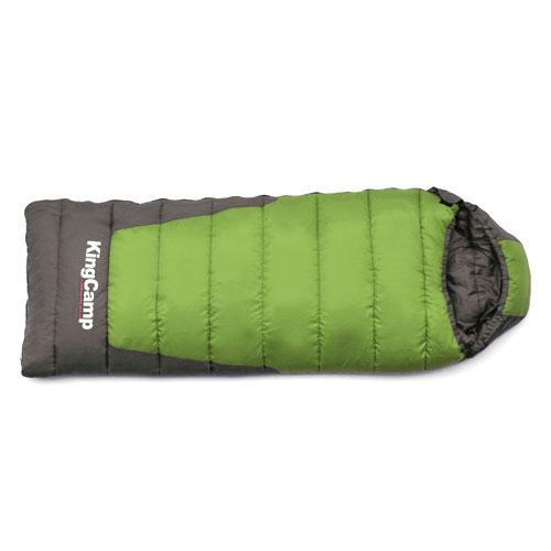 Спальный мешок KingCamp Explorer 300 KS3149, правосторонняя молния, цвет: зеленый, серыйУТ-000050554Трехсезонный спальный мешок-одеяло KingCamp Explorer 300 с подголовником - незаменимая вещь для любителей уюта и комфорта во время активного отдыха. Спальный мешок закрывается на двустороннюю застежку-молнию. Теплый спальный мешок спасет вас от холода во время туристического похода, поездки на рыбалку даже в межсезонье и зимой.Спальный мешок упакован в удобный нейлоновый чехол для переноски.