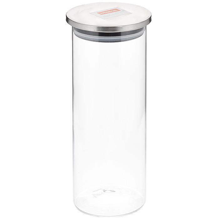 Емкость для хранения Hausmann, 1,32 лVT-1520(SR)Емкость для хранения Hausmann, выполненная из высококачественного стекла, станет незаменимым помощником на кухне. В ней будет удобно хранить разнообразные сыпучие продукты, такие как крупы, макароны или муку. Она надежно закрывается крышкой из пластика и нержавеющей стали с силиконовым уплотнителем. Такая банка не только сэкономит место на вашей кухне, но и украсит интерьер.