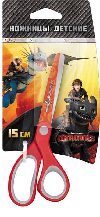 Ножницы детские Action Dragons, цвет: красный, 15 смFS-00897Детские ножницы Action Dragons с безопасными закругленными лезвиями изготовлены из высококачественной нержавеющей стали. Лезвия с наружной стороны оформлены декоративным рисунком. Облегченные ручки ножниц адаптированы для детской руки.Вашему ребенку будет настоящим удовольствием делать с ножницами Action Dragons различные аппликации из бумаги или других материалов.