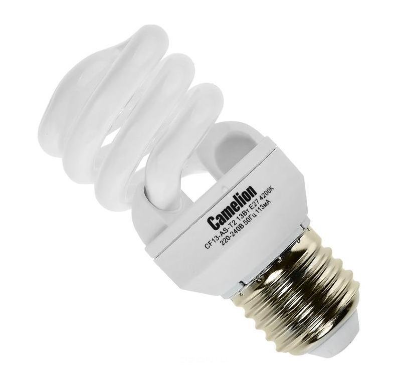Camelion CF13-AS-T2/842/E27 энергосберегающая лампа, 13ВтC0042416Энергосберегающие лампы Camelion это экономия до 50% бюджета вашей компании.