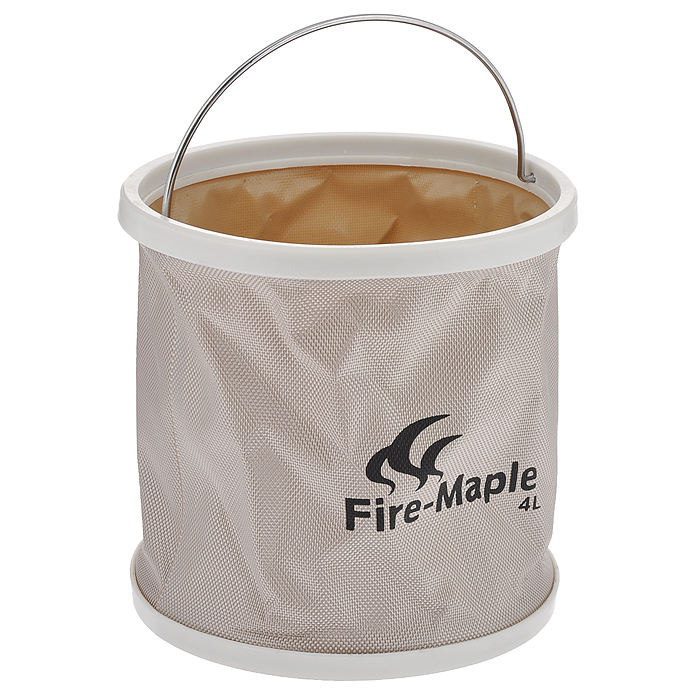 Ведро складное Fire-Maple, с чехлом, 4 лВетерок 2ГФСкладное ведро Fire-Maple изготовлено из прочного водонепроницаемого материала оксфорд с герметичными швами. Оно не займет много места в сложенном состоянии и идеально подойдет не только в походе, но и при решении множества хозяйственных задач. Такое ведро идеально для кемпинга, охоты, рыбалки, отдыха на воде, садоводства, мытья машины и много другого. В комплект входит удобный чехол с петелькой на пластиковой застежке-молнии.
