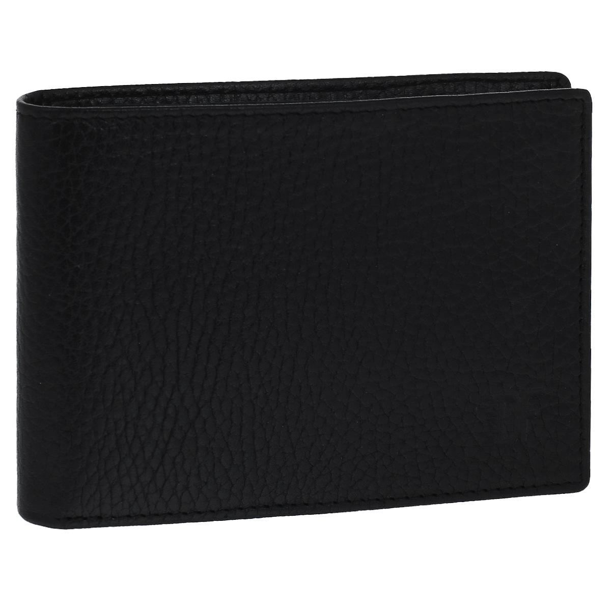 Кошелек мужской Dimanche Street, цвет: черный. 183BM8434-58AEСтильный мужской кошелек Dimanche Street изготовлен из натуральной фактурной кожи черного цвета. Закрывается на кнопку. Внутри содержится 2 длинных отделения для купюр, 9 кармашков для пластиковых карт, 2 потайных кармашка для мелких бумаг, гнездо для сим-карты, а также объемный карман с отделением для мелочи, который закрывается клапаном с потайной кнопкой. Стильный кошелек эффектно дополнит ваш образ и станет незаменимым аксессуаром.