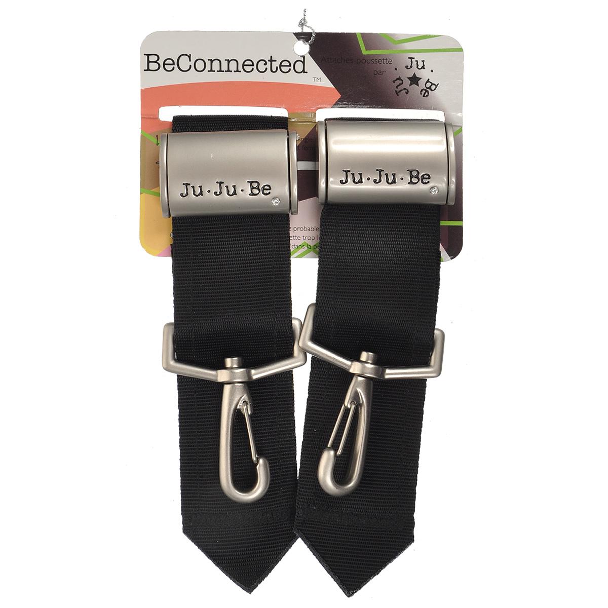 """Крепления к коляске Ju-Ju-Be """"Be Connected Clips"""" подойдут не только к сумкам и рюкзакам Ju-Ju-Be, но и к любой сумке при наличии колец. Они выполнены из металла, ремень с антискользящим покрытием. Ну и, конечно же, страз для большего шика. Больше вам не стоит беспокоиться за сумку и все время оглядываться на коляску, когда гуляете с малышом. На крепления очень удобно вешать пластиковые пакеты из супермаркета, теперь вы сможете совершать покупки вместе с ребенком, и при этом ваши руки будут свободны. В комплект входят 2 крепления."""