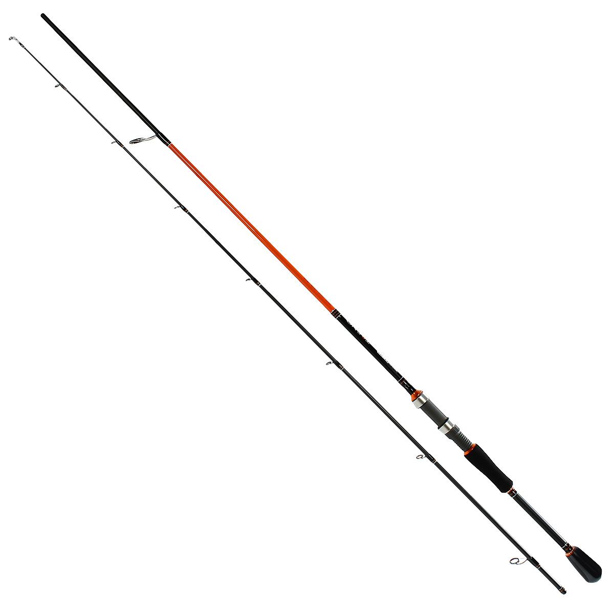 Удилище спиннинговое Team Salmo TRENO, 2,31 м, 4-18 гLJ105-01Серия спиннингов TRENO разработана специально для ловли хищной рыбы твичингом и на джиг-приманки. Бланки этой серии изготовлены из усовершенствованного высокомодульного графита 40T, обеспечивающего максимальную прочность, а также высокую чувствительность по всему заявленному тестовому диапазону. Строй бланков быстрый и экстра быстрый. Бланк в основании достаточно толстый, что дает преимущества не только при вываживании крупной рыбы, но и при рывковой проводке воблеров. Несмотря на относительно небольшую длину, спиннинги TRENO обладают отличными бросковыми характеристиками. Спиннинги укомплектованы пропускными кольцами Fuji K-guide со вставками SIC. Наклоненные колечки на вершинке - раннинги и противозахлестный тюльпан, не позволят запутаться за них в сильный ветер даже мягкому PE шнуру. В элегантной и практичной разнесенной рукоятке, из прочного материала EVA, установлен катушкодержатель VSS от Fuji с задней гайкой крепления. Материал ручек жесткий и приятный на ощупь.