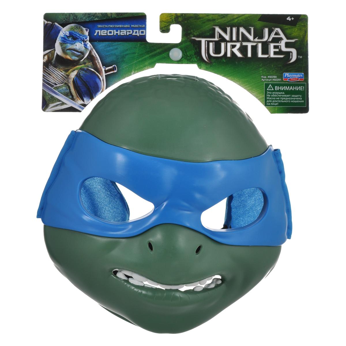 """У вашего ребенка намечается детский утренник, бал-маскарад или карнавал? Маска Turtles """"Черепашки-Ниндзя: Леонардо"""" внесет нотку задора и веселья в праздник и станет завершающим штрихом в создании праздничного образа. Маска имеет прорези для глаз и держится на голове при помощи эластичных ремешков на липучке. Внутри маски находится специальная резиновая накладка по контуру глаз и носа. С маской Turtles """"Черепашки-Ниндзя: Леонардо"""" перевоплощение в любимого супергероя станет мгновенным!"""