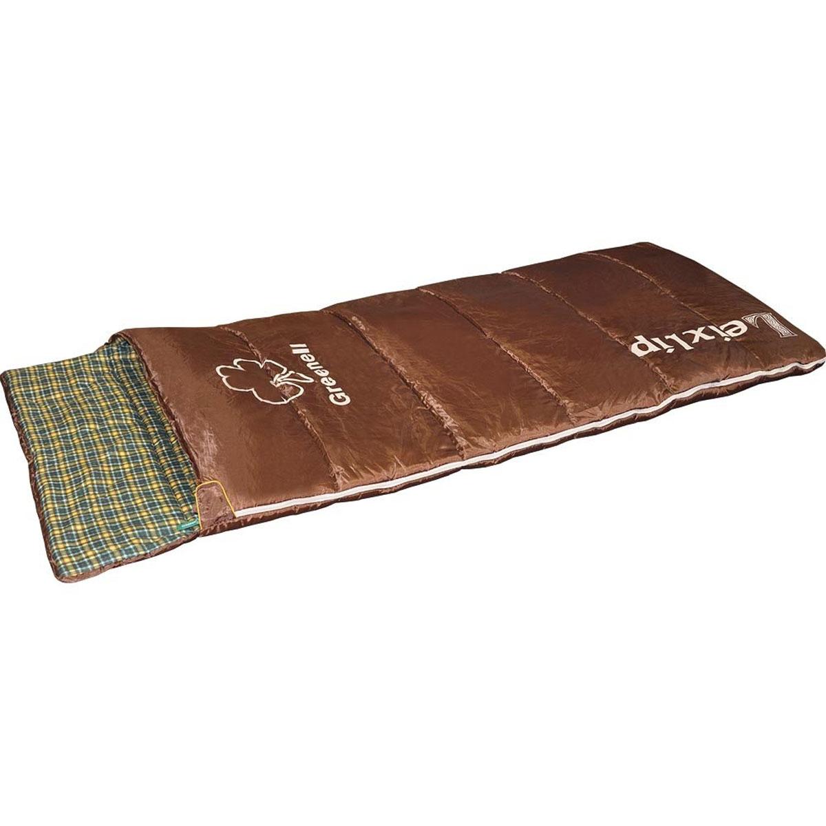 Спальный мешок Greenell Лейкслип, левосторонняя молния, цвет: коричневый34023-224-00Спальный мешок Greenell Лейкслип - комфорт домашнего пледа. Выспаться уютно по-домашнему в комфортном одеяле с фланелевой хлопковой подкладкой. Разъемная застежка-молния, левый и правый вариант делают эту модель универсальной в применении и позволяют состегнуть вместе два спальника. А отправляясь в путь, не забудьте вынуть документы из внутреннего кармана спальника.Увеличенный внутренний объем кемпингового спальника позволяет комфортно отдохнуть даже человеку крупной комплекции! Используемый утеплитель холлофайбер безопасен для людей с гиперчувствительной кожей и аллергиков. Холлофайбер быстро сохнет, не скомкивается и отлично удерживает тепло При необходимости кемпинговый спальный мешок можно использовать в качестве дополнительного утепляющего слоя и в домашних условиях в холодную зиму. Компрессионный мешок в комплекте.Материал верха: 210T Polyester Honey Ripstop Cire W/R. Материал подкладки: Flannel cotton.