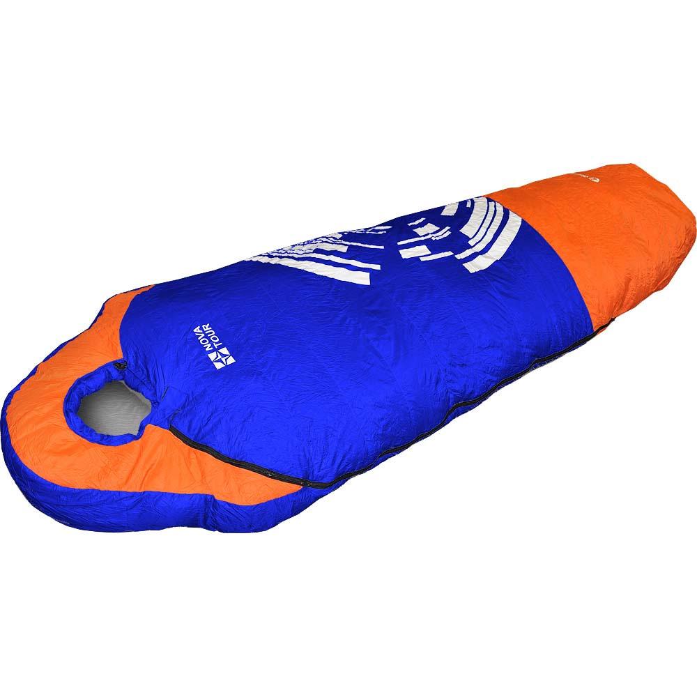 Спальный мешок NOVA TOUR  Оймякон , правосторонняя молния, цвет: синий, оранжевый - Спальные мешки