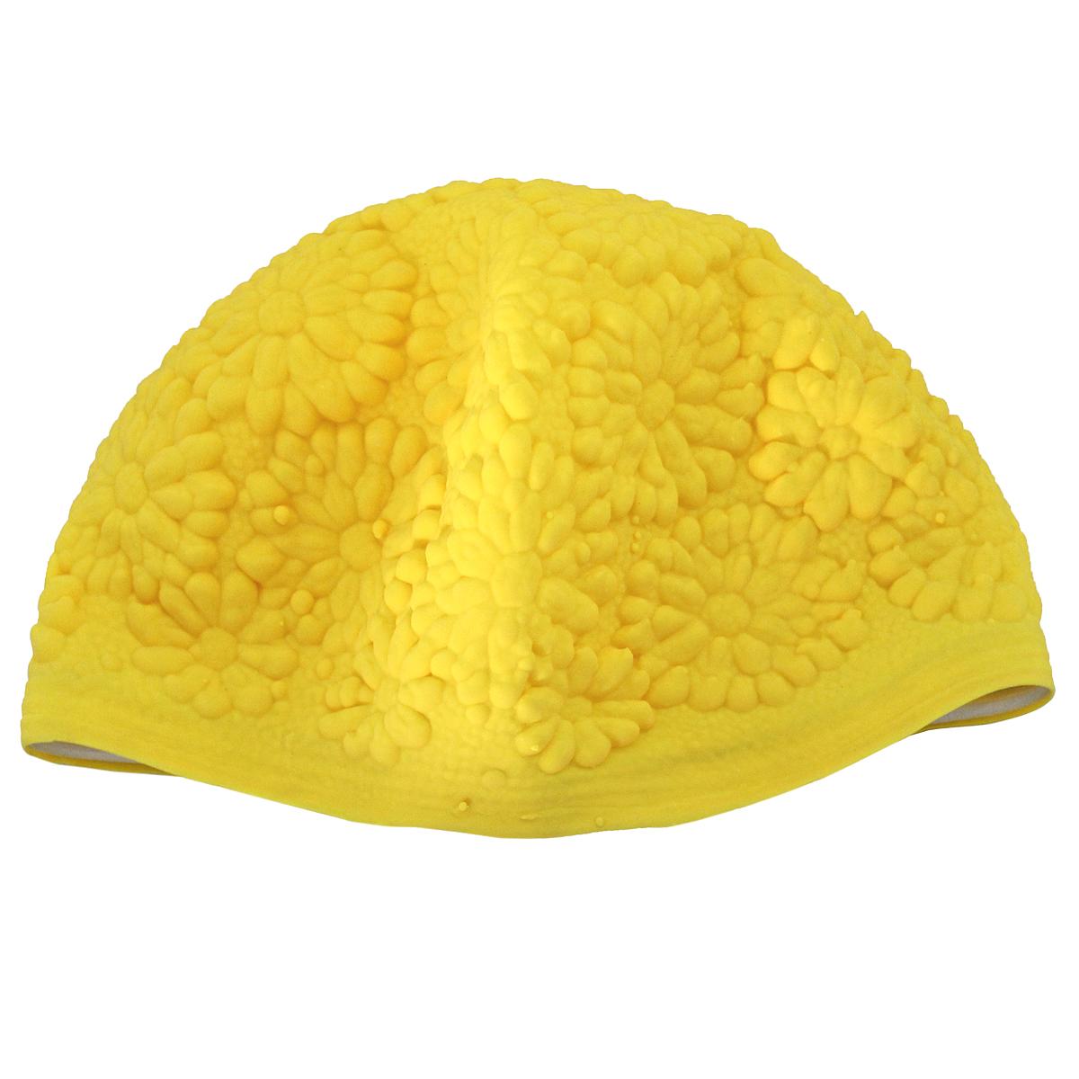 Шапочка для плавания MadWave Hawaii Chrysanthemum, женская, цвет: желтыйM0552 02 0 02WЛатексная шапочка для плавания MadWave Hawaii Chrysanthemum декорирована цветочным рельефом. Имеет превосходную эластичность и высокий уровень комфорта. Высококачественный материал обеспечивает долгий срок службы. Пузырьковая поверхность уменьшает площадь соприкосновения с волосами.Обхват головы: 53 см.