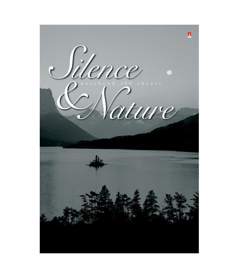 Блокнот Альт Silence and Nature, цвет: черный, белый. 3-160-490/2 ДТС6804238Блокнот Альт Silence and Nature удобен для использования в офисе, для тех, кто ведет объемные записи. Бумажный блок из 160 листов в переплетном соединении сделан из белой бумаги высшего сорта. Увеличенный срок службы достигается благодаря твердому переплету.Лучшим звуком для наслаждения природой является тишина. Полное молчание подчеркивает величественность горных вершин, спокойную гладь реки и неподвижные кроны деревьев. Чтобы усилить впечатление, для обложки выбран стиль черно-белых фото.