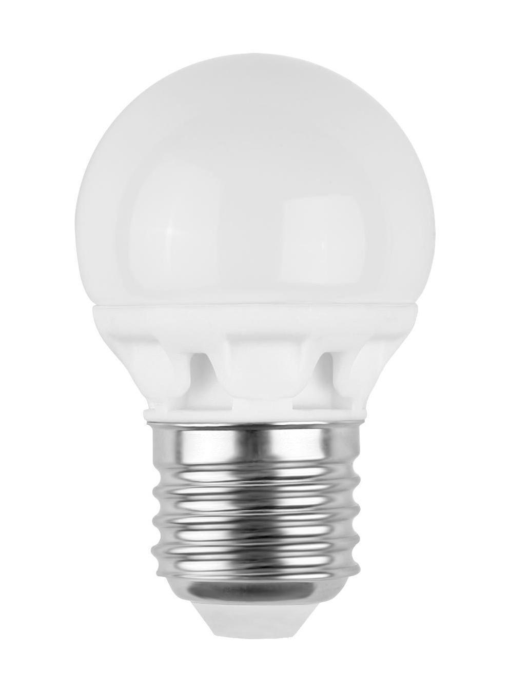 Camelion LED3-G45/845/E27 светодиодная лампа, 3ВтLED3-G45/845/E27Экономят до 80% электроэнергии по сравнению с обычными лампами накаливания такой же яркости.Низкое тепловыделение во время работы лампы - возможность использования в светильниках, критичных к повышенному нагреву.Встроенный ЭПРА - возможность прямой замены ламп накаливания.Универсальное рабочее положение.Включение без мерцания.Отсутствие стробоскопического эффекта при работе.Равномерное распределение света по колбе - мягкий свет не слепит глаза.Высокий уровень цветопередачи (Ra не менее 82) - естественная передача цветов.Широкий температурный диапазон эксплуатации (от -15 oC до +40 oC) - возможность использования ламп вне помещений.Рабочий диапазон напряжений - 220-240В / 50ГцВозможность выбора света различного спектрального состава - теплый белый, холодный белый и дневной белый свет.Компактные размеры - возможность использовать практически в любых светильниках, где применяются лампы накаливания.